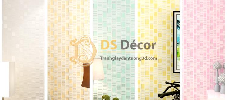 5 màu giấy dán tường 3d họa tiết kẻ sọc 3D001