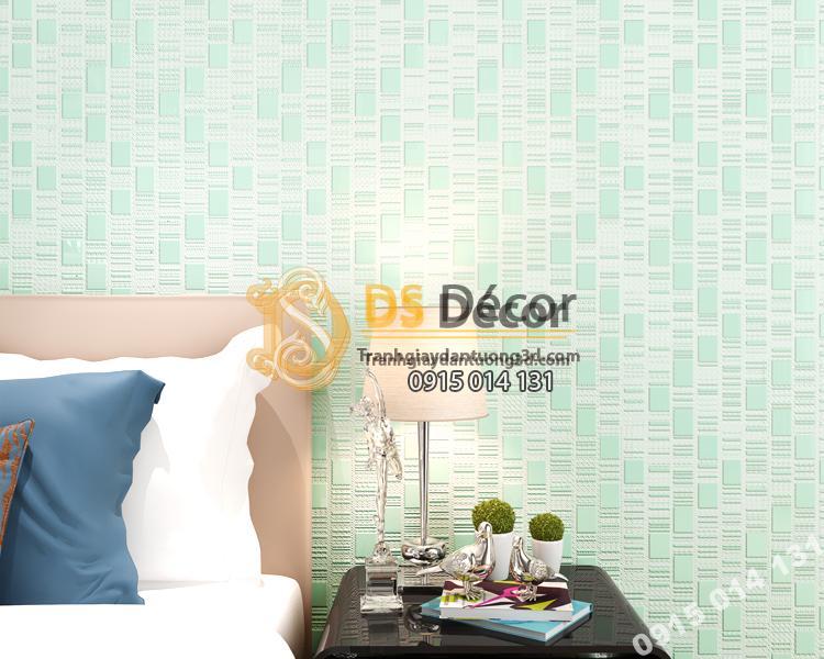 Giấy dán tường 3d họa tiết kẻ sọc 3D001 màu xanh