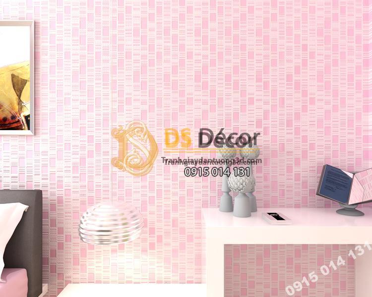 Giấy dán tường 3d họa tiết kẻ sọc 3D001 màu hồng