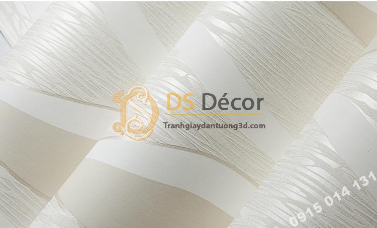 Bề mặt Giấy dán tường họa tiết sóng biền 3D015 màu be trắng 201