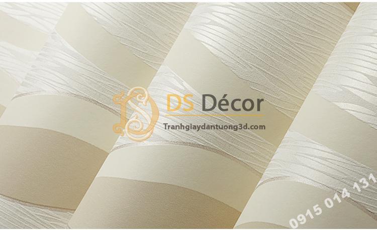 Giấy dán tường họa tiết sóng biền 3D015 màu be  202