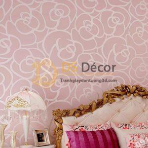 Giấy dán tường hoa hồng phòng ngủ 3D013