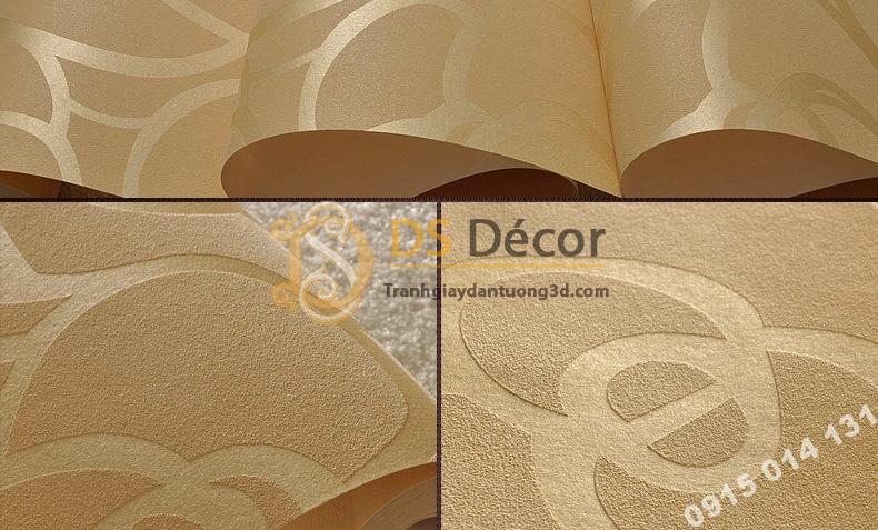 Bề mặt Giấy dán tường hoa hồng vàng phòng khách 3D013