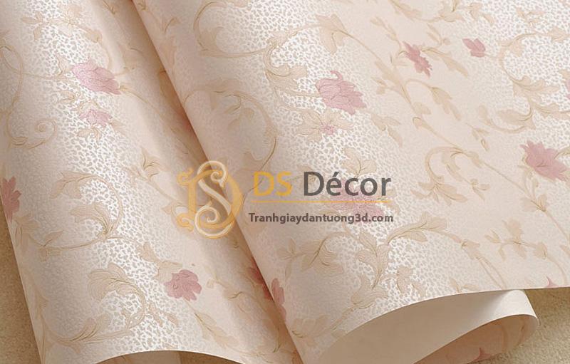 Bề mặt sản phẩm giấy dán tường 3d họa tiết hoa hồng 3D034