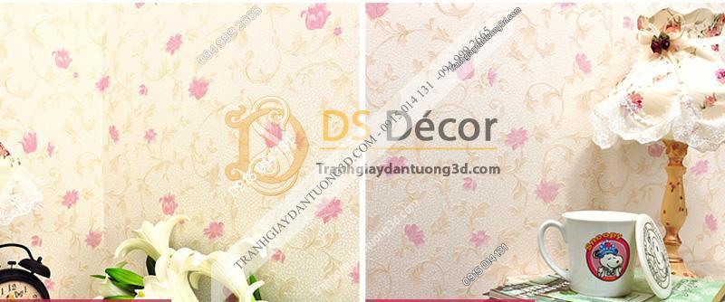 Hai mẫu sản phẩm giấy dán tường 3d họa tiết hoa hồng 3D034