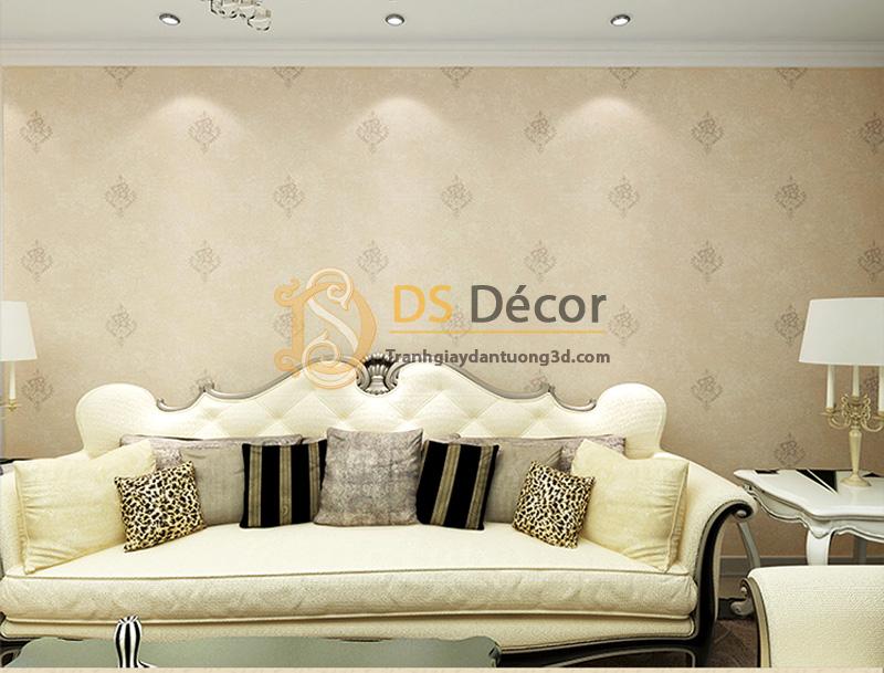 Giấy dán tường 3d họa tiết cách điệu đơn giản 3d030 màu nâu