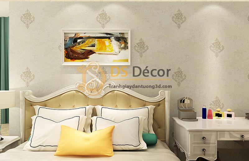 Giấy dán tường 3d họa tiết cách điệu đơn giản 3d030 màu be