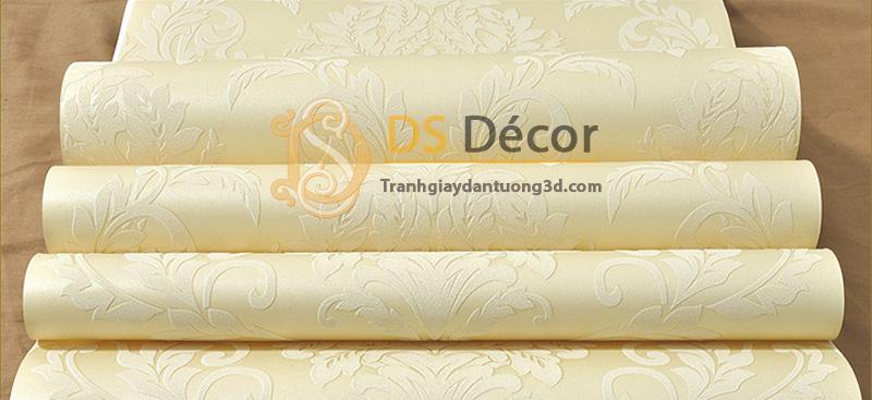 Bề mặt giấy dán tường 3d hoa văn dập nổi phong cách châu Âu 3D035