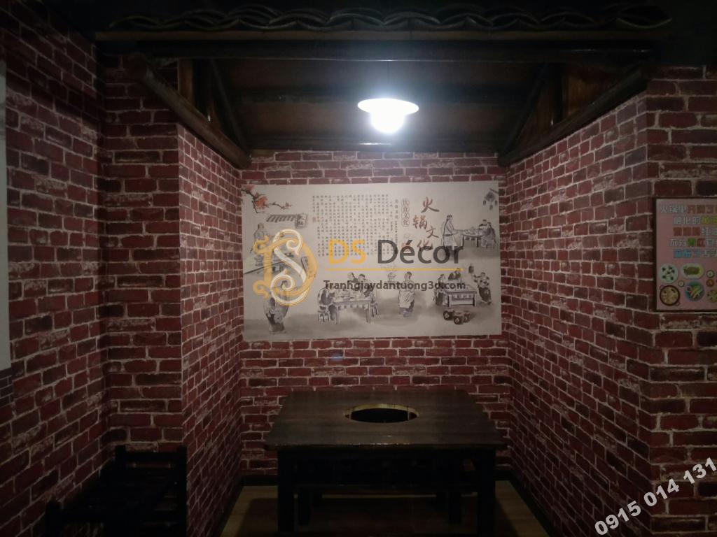 Giáy dán tường giả gạch 3D006