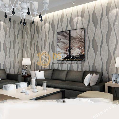 Giấy dán tường họa tiết sóng biền 3D015