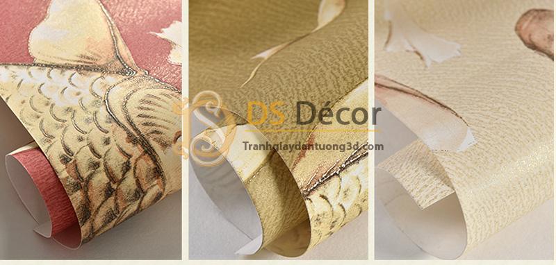 Ba màu cơ bản của giấy dán tường 3d họa tiết cá chép