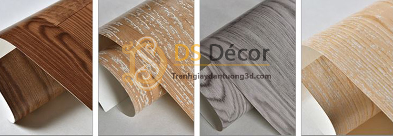 4 màu cơ bản của sản phẩm giấy dán tường 3d họa tiết giả vân gỗ