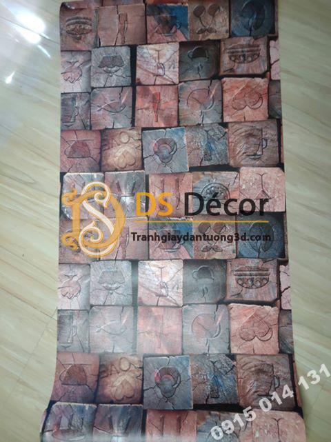 Bề mặt giấy dán tường giả gỗ 3D044