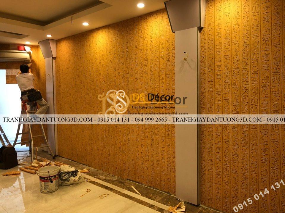 Thi công giấy dán tường phòng spa tại Hà Nội