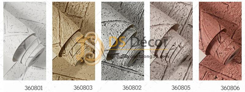 5 màu giấy dán tường giả gạch chéo 3D061