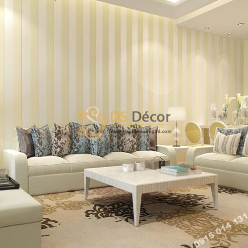 giấy-dán-tường-sọc-dọc-hiện-đại-3d071-màu be phòng khách