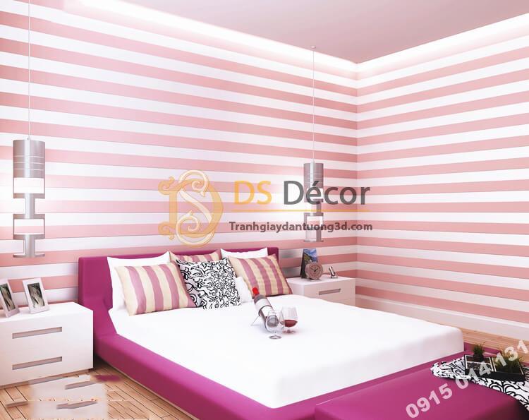 giấy-dán-tường-sọc-dọc-hiện-đại-3d071-mau hồng