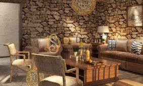 Trang trí giấy dán tường phong cách Retro cổ kính