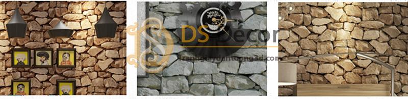 3 màu sắc của mẫu Giấy dán tường 3D họa tiết giả đá 3D043