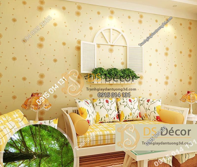 Giấy dán tường họa tiết hoa bồ công anh 3D045