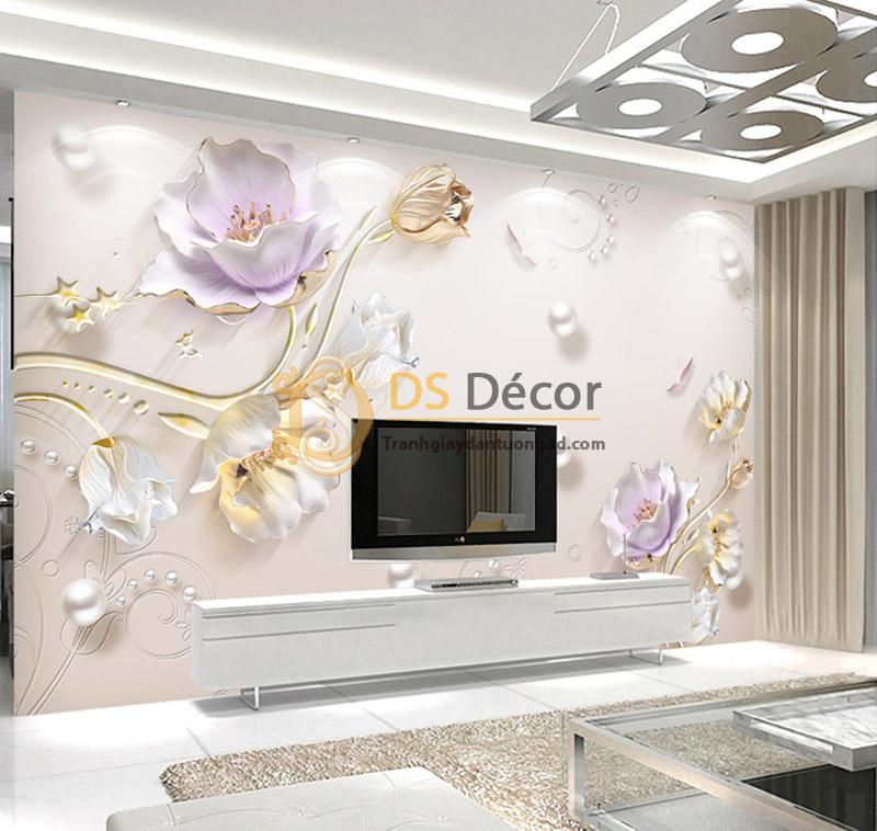 Tranh Dán Tường Hoa Giả Ngọc 3D|5D – 5D001