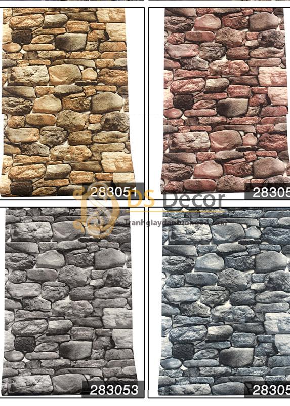 Bề mặt Giấy Dán Tường Retro Giả Đá Rêu 3D082