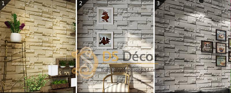 3 màu cơ bản Giấy Dán Tường 3D Giả Gạch Đá 3D080