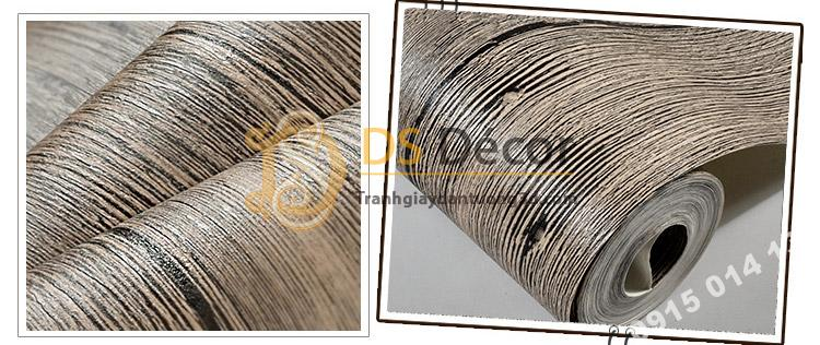 Bề mặt giấy Giấy dán tường giả vân gỗ cổ 3D087