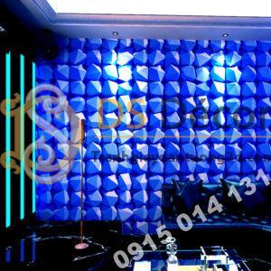 Giấy dán tường khối 3D hình học 3D049 mày xanh dương