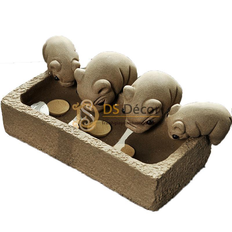 Đàn-Lợn-Con-Ăn-Cám-Trong-Máng-Cute-DTT02