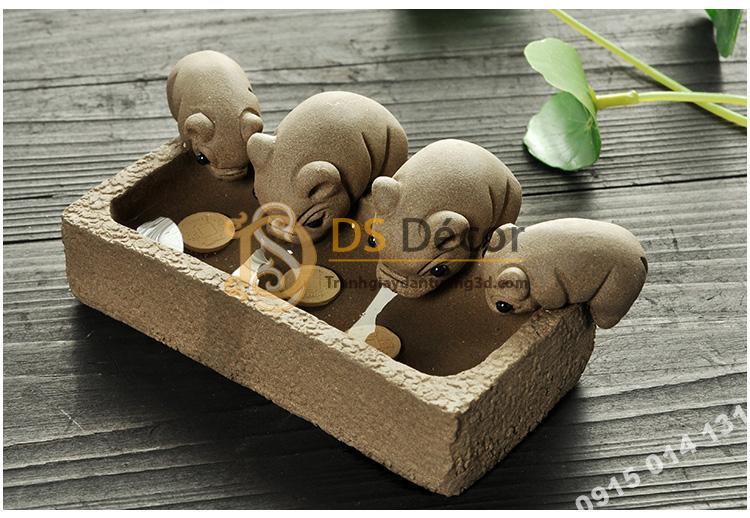 Đồ-Trang-Trí-Đàn-Lợn-Con-Ăn-Cám-Trong-Máng-Cute-dtt02-01
