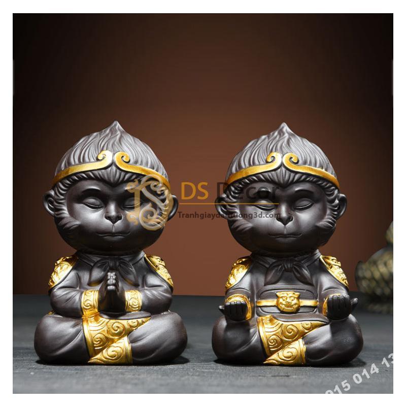 Đồ-gốm-trang-trí-tượng-đại-thánh-ngồi-thiền-DTT01