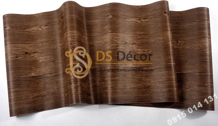 Bề mặt Giấy-dán-tường-giả-gỗ-3D103-màu đậm