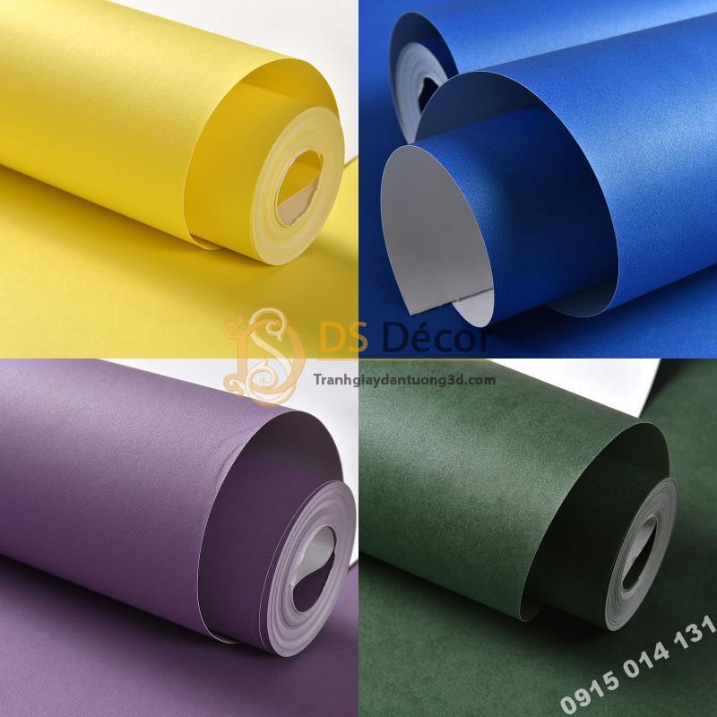 Nhiều màu sắc cho quý khách lựa chọn giấy dán tường một màu