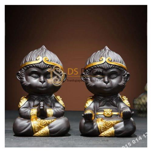 Tượng-gốm-trang-trí-đại-thánh-ngồi-thiền-DTT01
