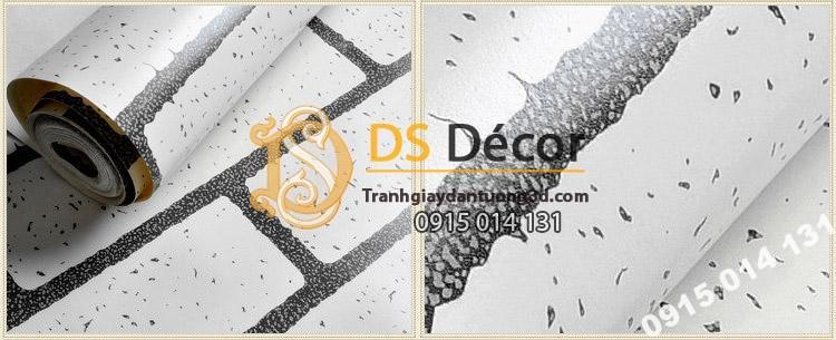 Bề mặt Giấy dán tường giả gạch trắng cho shop thời trang - 3D099
