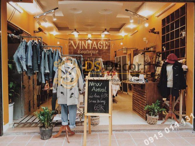 Shop thời trang sử dụng Giấy Dán Tường Một Màu 3D104