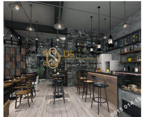 Giấy dán tường họa tiết bảng đen phấn trắng 3D158 mẫu tối trang trí quán cà phê