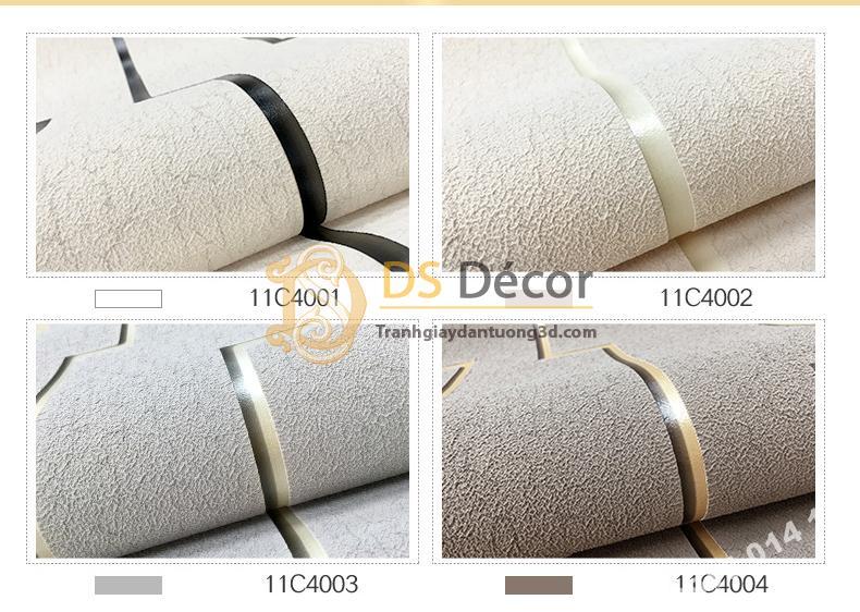 4 Màu giấy dán tường vi mạch hiện đại 3D151