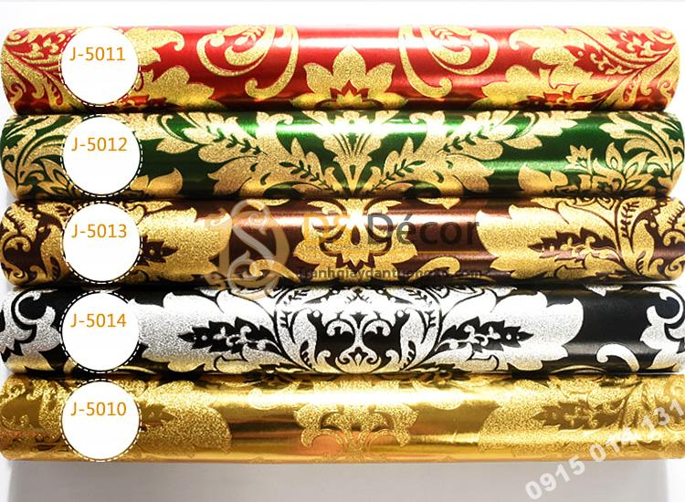 5 màu giấy dán tường hoa cổ điển 3d186