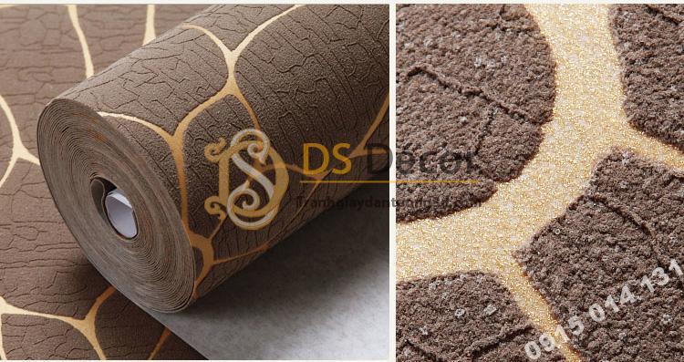 Bề mặt Giấy dán tường hoa cúc 3D161 màu cà phê