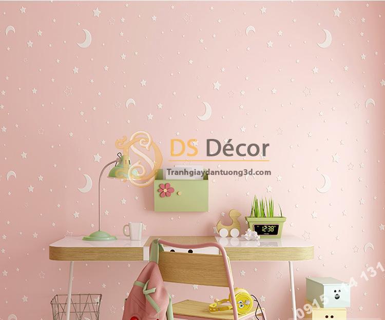 Giấy dán tường dạ quang hồng 3D170
