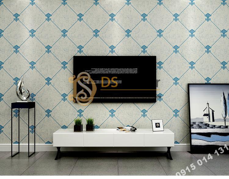 Giay-dan-tuong-gia-da-Marble-kim-cuong-3D145-mau-denim-xanh-703