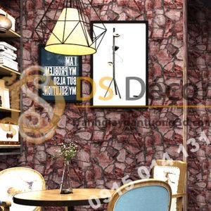 Giay-dan-tuong-gia-da-Pattern-cho-quan-cafe-tra-sua-mau-do