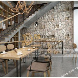 Giay-dan-tuong-gia-da-Pattern-cho-quan-cafe-tra-sua-mau-kaki-sang