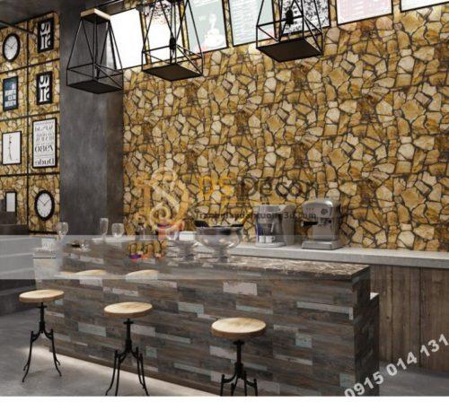 Giay-dan-tuong-gia-da-Pattern-cho-quan-cafe-tra-sua-mau-vang
