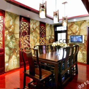 Giấy dán tường giả đá tự nhiên 3D177 trang trí nhà hàng
