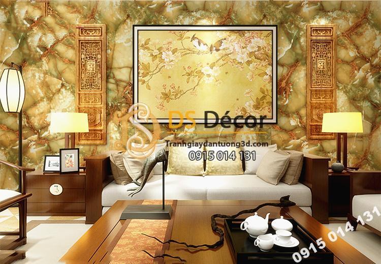 Giấy dán tường giả đá tự nhiên 3D177 trang trí phòng khách
