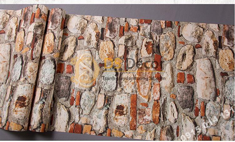 Bề mặt Giấy dán tường giả đá vỡ 3D166