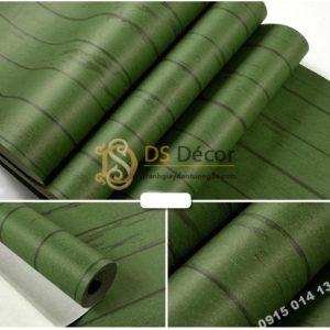 Giấy dán tường giả gỗ xanh lúc 3D181 màu đậm